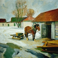 Horse with Sleigh