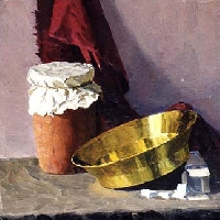 Still Life with a Copper Bowl and a Jar
