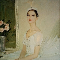 Portrait of a ballet dancer Veronique