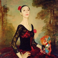 Portrait of a ballet dancer Lubov