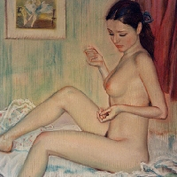Nude with a Blue Ribbon