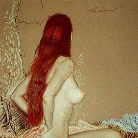 Nude with Ginger Hair