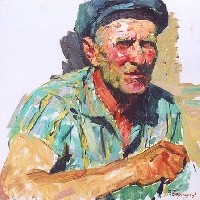 Farmer at Lunch