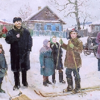 Visiting a Village with Krupskaya
