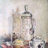 Still Life with Glass Jar