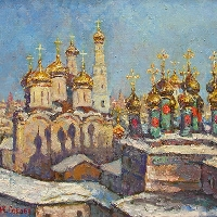 Moscow. The Kremlin Domes