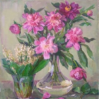Peonies and Lilies of the Valley