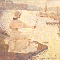 Young Lady Fishing