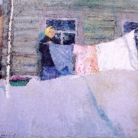 Woman with the Washing