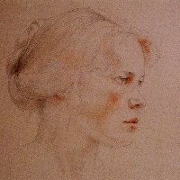 Portrait of Girl with Blond Hair