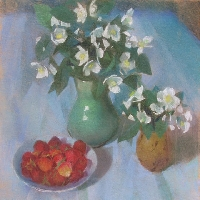 Still Life with Flowers and Strawberries