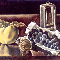 Still life with Grapes & Nut
