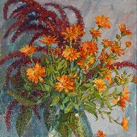 Bouquet with Calendulas