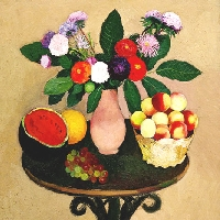 Still Life. Flowers and Fruits.