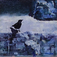 Blackbird on a Temple Step