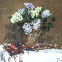 Lilacs with Oriental Kerchief