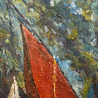Red Sailing Ship