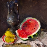 Still-Life with a Watermelon