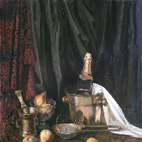 Still Life with Champagne Bucket