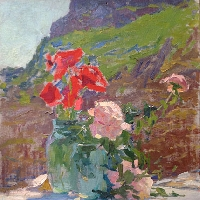 Poppies Still Life In Crimea