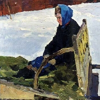Woman in Sleigh