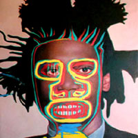 Double portrait of J M Basquiat
