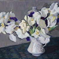 Irises in Gray