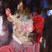 Methaphysical Portrait. Man in Striped Jacket