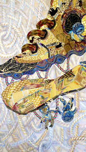 Gold Shoes Gold Sole!. From Orbiting Shoes Series -Tapestries on Hangers.