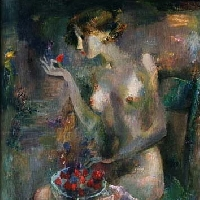 Woman with Strawberry