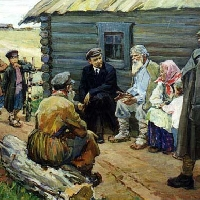 Lenin With Villagers